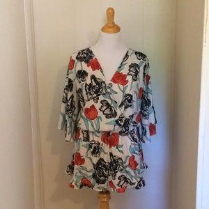 Floral Kimono esque romper